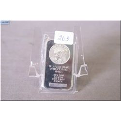 Sterling silver one ounce ingot