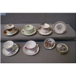 A selection of collectible tea cups and saucers including Royal Albert, Royal Staffordshire, Royal V