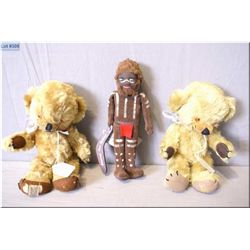 "A pair of vintage English Merrythought mohair teddy bears ""Cheeky"" with jingle ears 11"" in height ci"
