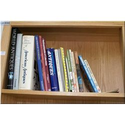 A selection of books including antique collector's guide and antique reference books etc.
