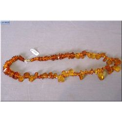 A vintage amber necklace