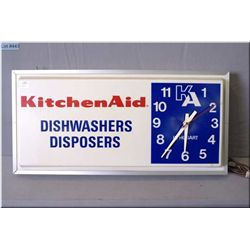 A vintage Kitchenaid retail display wall clock