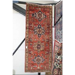 "Iranian wool runner/rug with four medallions 40"" X 100"""