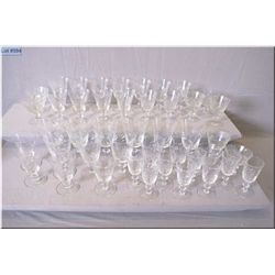 A selection of crystal stemware including wine glasses, tumblers, sherry glasses etc.