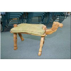 A Camel motif folding stool