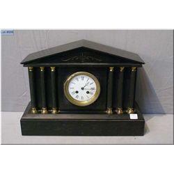 Antique slate chiming mantle clock