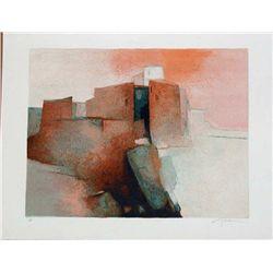 Claude Gaveau, Haute Provence, Signed Lithograph