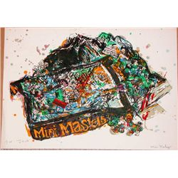 Malcolm Morley, Arles, Signed Lithograph