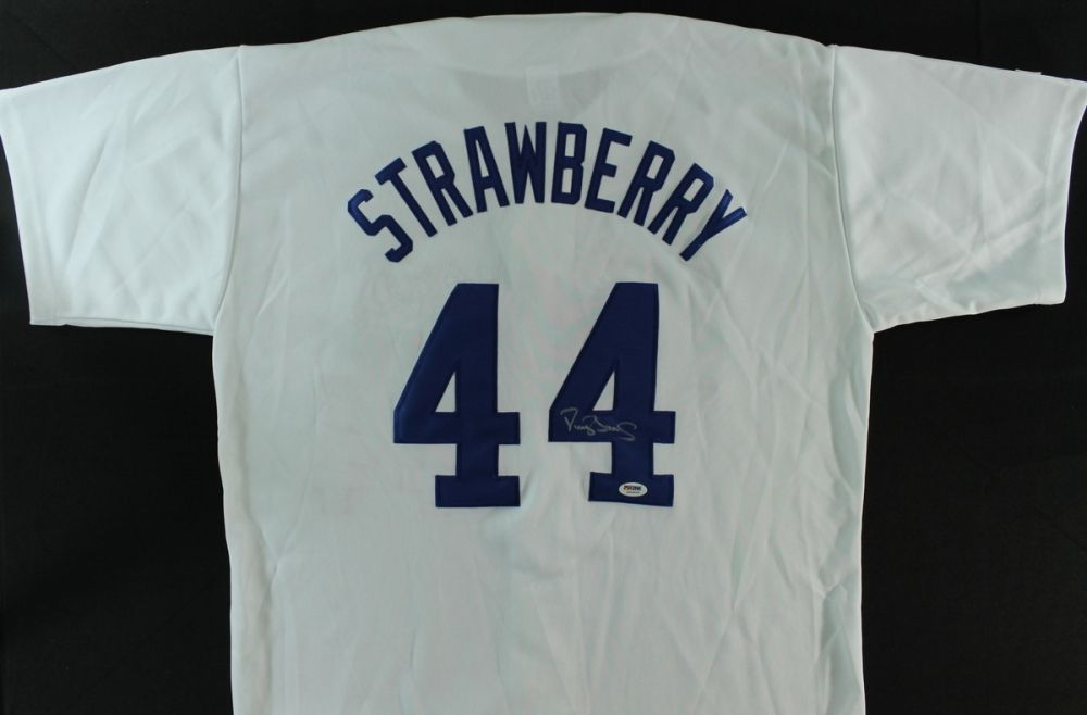 check out dd246 eda84 Darryl Strawberry Signed Dodgers Jersey (PSA COA)