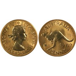 1962 Y Penny PCGS  PR 67 Red Penny