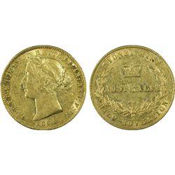 1864 Half Sovereign PCGS AU50