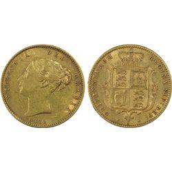 1872 S Half Sovereign PCGS XF45