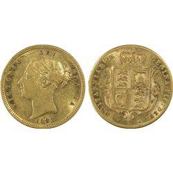 1882M half Sovereign PCGS AU53