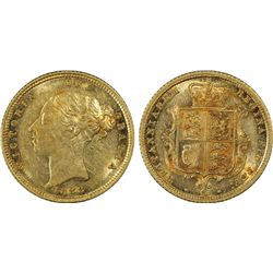 1883S Half Sovereign PCGS AU53