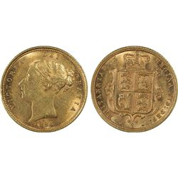 1886 S Half Sovereign PCGS AU55