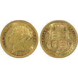 1887 S Half Sovereign PCGS AU53