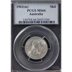 1961(m) Shilling PCGS MS66