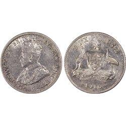 1916 Sixpence PCGS AU53