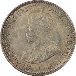 1921 Plain Threepence MS64