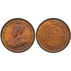 1917-I Penny PCGS MS64RB