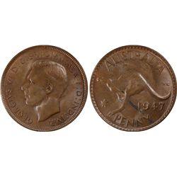1947(p) Penny PCGS MS63BN