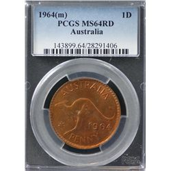 1964(m) Penny PCGS MS64RD