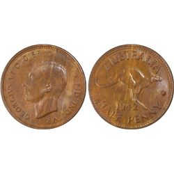 1942(p) ½ Penny PCGS MS63BN
