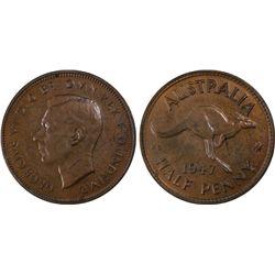 1947(p) ½ Penny PCGS MS64BN