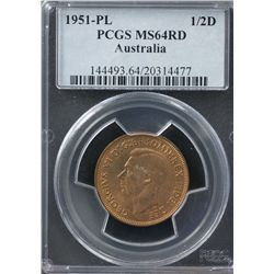 1951-PL ½ Penny PCGS MS64RD