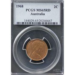 1968 2c PCGS MS65RD