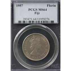 1957 Fiji Florin PCGS MS64