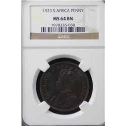 1923 South Africa Penny NGC PR64BN