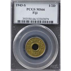 1943-S Fiji ½ Penny PCGS MS66