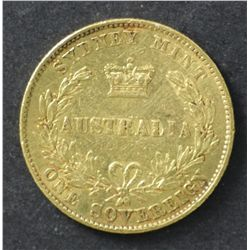 1859 Sovereign Sydney Mint Good Fine