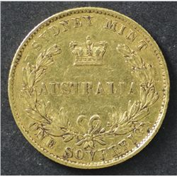 1862 Sovereign Sydney Mint aVery Fine