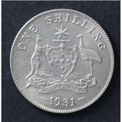 1931 Shilling, Extremely Fine