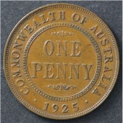 1925 Penny Nearly Extremely Fine
