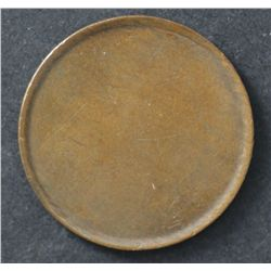 Halfpenny black planchet in copper, scarce