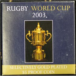 Rugby World Cup 2003 $5 Proof