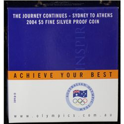 The Journey continues 2004 $5 proof Silver Coin