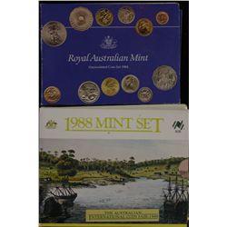 Mint Sets 1984 (2), 1988 (3)