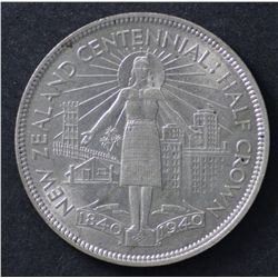 NZ 1940 half Crowns EF to Unc, one is choice, (6)
