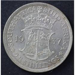 South Africa Halfcrowns 1936 , 1937 & 1942 EF