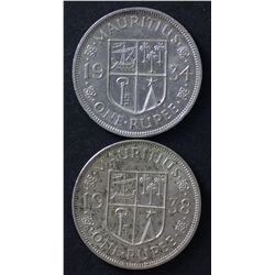 Mauritius Ruppes 1934 & 1938 Nice EF
