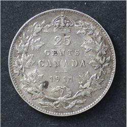 Canada 25c 1911 EF45 & attractive