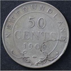 Newfoundland 50c 1907, 1909 & 1919 Worn