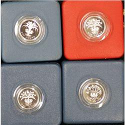Gb Pounds 1984 Piedfort, 1984,198,1989