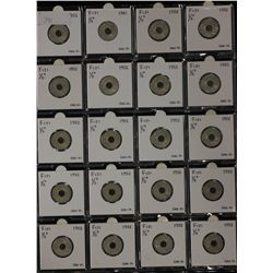 Fiji Halfpennies 1952 Uncirculated 19 Coins,