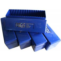 PCGS Boxes , 10 blue boxes to hold 200