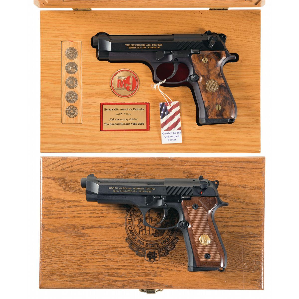 Collector's Lot of Two Cased Commemorative Beretta Semi-Automatic Pistols  -A) Beretta M9 The Second
